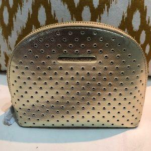 Michael Kors Gold Makeup Bag